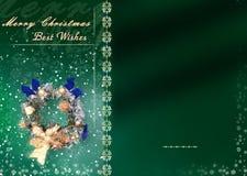Tarjeta de Navidad con el espacio para los deseos Foto de archivo