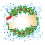 Tarjeta de Navidad con el lugar para   stock de ilustración