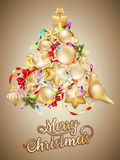 Tarjeta de Navidad con el lugar para el texto EPS 10 Imágenes de archivo libres de regalías