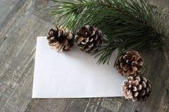 Tarjeta de Navidad con el lugar para el texto Fotografía de archivo libre de regalías