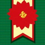 Tarjeta de Navidad con el Poinsettia Fotografía de archivo