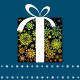 Tarjeta de Navidad con el rectángulo de regalo. EPS 8 Fotos de archivo libres de regalías