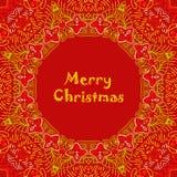 Tarjeta de Navidad con el texto de la Feliz Navidad con Fotos de archivo