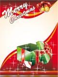 Tarjeta de Navidad con Giftbox Fotos de archivo libres de regalías