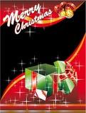 Tarjeta de Navidad con Giftbox Fotografía de archivo libre de regalías