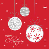 Tarjeta de Navidad con la decoración de la chuchería Imagenes de archivo