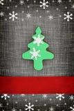 Tarjeta de Navidad con la galleta del árbol Imagenes de archivo