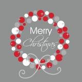 Tarjeta de Navidad con la guirnalda Imágenes de archivo libres de regalías