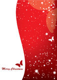 Tarjeta de Navidad con la mariposa Fotografía de archivo libre de regalías