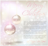 Tarjeta de Navidad con la muestra del texto Imágenes de archivo libres de regalías