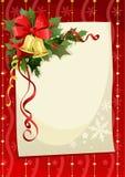 Tarjeta de Navidad con las alarmas Imágenes de archivo libres de regalías