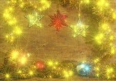 Tarjeta de Navidad con las bolas de la Navidad Imágenes de archivo libres de regalías