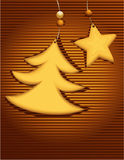 Tarjeta de Navidad con las tortas dulces stock de ilustración