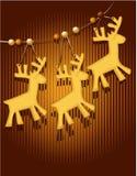 Tarjeta de Navidad con las tortas dulces libre illustration