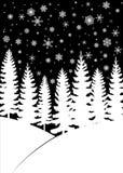 Tarjeta de Navidad con los árboles stock de ilustración