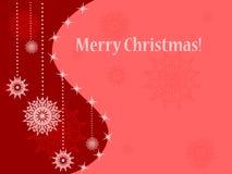 Tarjeta de Navidad con los copos de nieve Fotografía de archivo libre de regalías