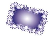Tarjeta de Navidad con los copos de nieve Foto de archivo libre de regalías