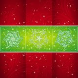 Tarjeta de Navidad con los copos de nieve Imágenes de archivo libres de regalías