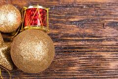 Tarjeta de Navidad con los juguetes Fotografía de archivo