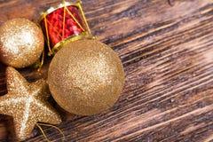 Tarjeta de Navidad con los juguetes Foto de archivo