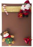 Tarjeta de Navidad con Papá Noel Fotografía de archivo