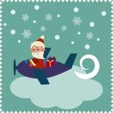 Tarjeta de Navidad con Papá Noel libre illustration