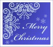 Tarjeta de Navidad con remolinos congelados Foto de archivo