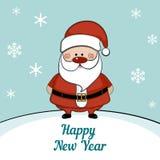 Tarjeta de Navidad con santa Foto de archivo libre de regalías