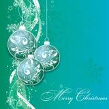 Tarjeta de Navidad con un ornamento, vector Fotos de archivo
