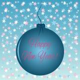 Tarjeta de Navidad Copos de nieve coloridos del fondo bajo la forma de estrellas abstractas Foto de archivo libre de regalías