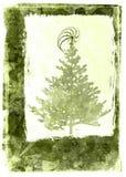 Tarjeta de Navidad de Grunge - verde Imagen de archivo