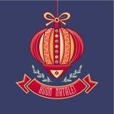 Tarjeta de Navidad de Italia Feliz Navidad Tarjeta de felicitaciones Imagen de archivo