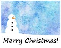 Tarjeta de Navidad de la acuarela Fotos de archivo libres de regalías