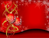 Tarjeta de Navidad de la belleza Imagen de archivo libre de regalías
