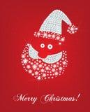 Tarjeta de Navidad de la cara de Santa Foto de archivo libre de regalías