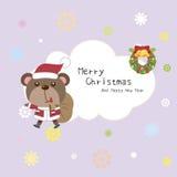 Tarjeta de Navidad de la historieta Foto de archivo