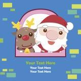 Tarjeta de Navidad de la historieta Imagen de archivo