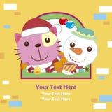 Tarjeta de Navidad de la historieta Imagen de archivo libre de regalías
