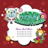 Tarjeta de Navidad de la historieta Imágenes de archivo libres de regalías