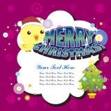 Tarjeta de Navidad de la historieta Foto de archivo libre de regalías