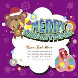 Tarjeta de Navidad de la historieta Imagenes de archivo