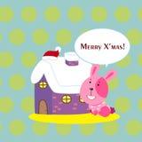 Tarjeta de Navidad de la historieta Fotos de archivo