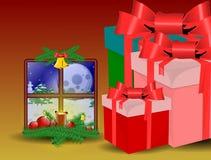 Tarjeta de Navidad de la música Fotografía de archivo libre de regalías
