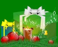 Tarjeta de Navidad de la música Imagen de archivo