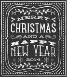 Tarjeta de Navidad de la tiza Imagenes de archivo