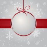 Tarjeta de Navidad de la vendimia Fotografía de archivo libre de regalías
