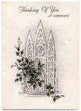 Tarjeta de Navidad de la vendimia foto de archivo libre de regalías