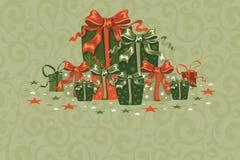 Tarjeta de Navidad de la vendimia Fotografía de archivo
