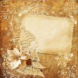 tarjeta de Navidad de la vendimia Fotos de archivo