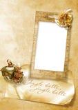 tarjeta de Navidad de la vendimia con las alarmas Imagen de archivo libre de regalías